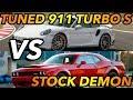 Dodge demon vs modded porsche 911 turbo s mp3