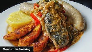 Jamaican Mackerel RUN   DUNG   Run Down   Lesson #125   Morris Time Cooking