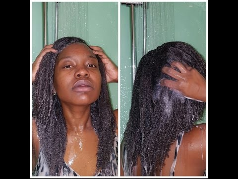 Natural hair| How to wash and deep condition dry 4c natural hair in the cold winter months