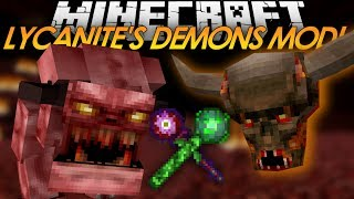 Minecraft Mod Showcase: Lycanite's Mobs! NEW DEMON MOBS & ITEMS! (Review)