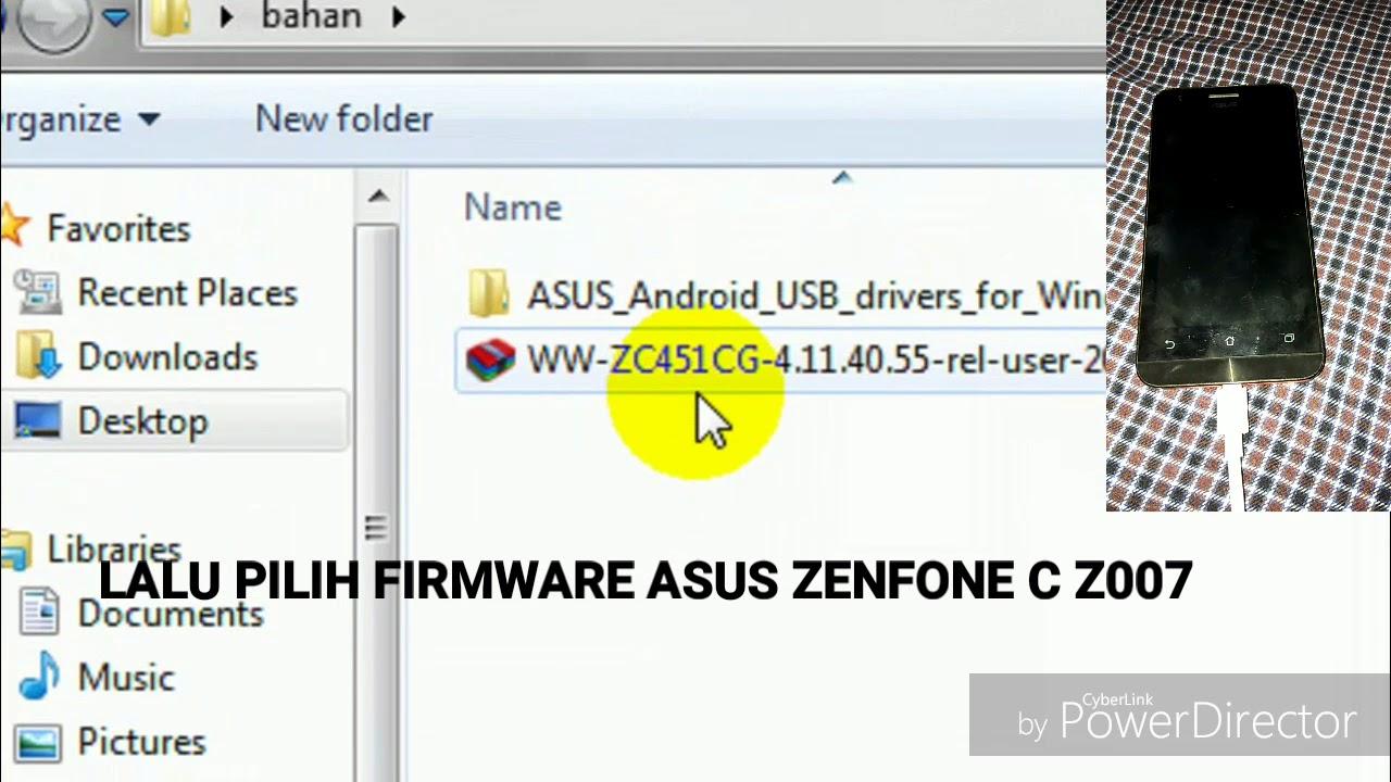 CARA FLASHING ASUS ZENFONE 4C Z007
