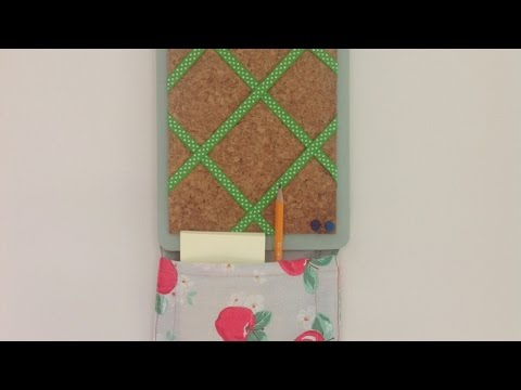 Make an Adorable Storage Pocket Pinboard- Home - Guidecentral