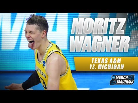 Michigan's Moritz Wagner scores 21 points in the Sweet 16