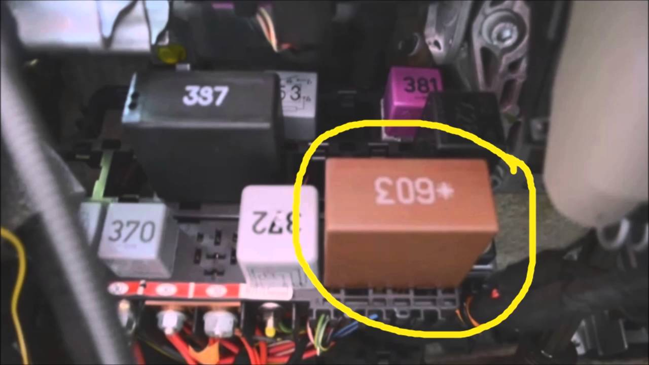 audi a6 relay panel location diagram commentary youtube