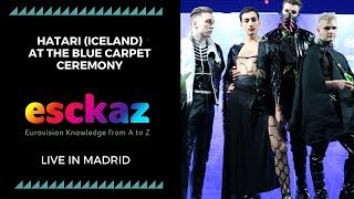 ESCKAZ in Madrid: Hatari (Iceland) at the Blue carpet ceremony