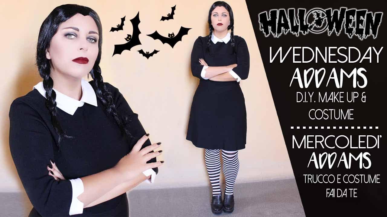 rilasciare informazioni su sito ufficiale più nuovo di vendita caldo Costume fai da te per Halloween (Mercoledì Addams) - Last Minute D.I.Y.  Halloween Costume