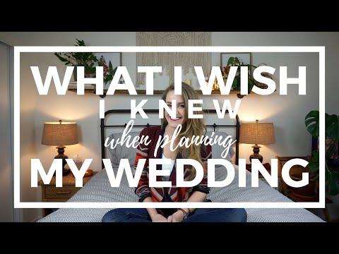 What I WISH I Knew When Planning My Wedding