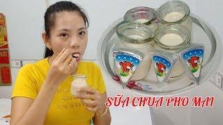 Cách làm sữa chua phô mai và cách ủ sữa chua mịn không tách nước
