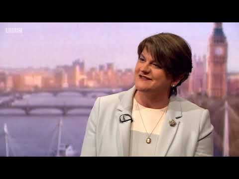 DUP Leader Arlene Foster's full interview on The Andrew Marr Show (sound corrected)