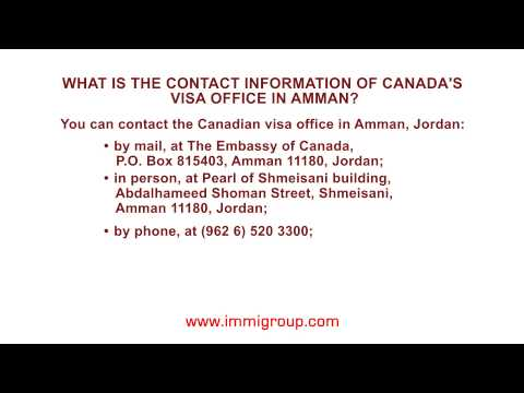 What is the contact information of Canada's visa office in Amman?