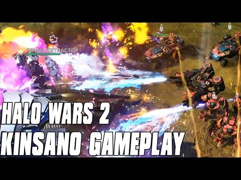 Halo Wars 2 - New Commander! Kinsano Gameplay Flame Goddess