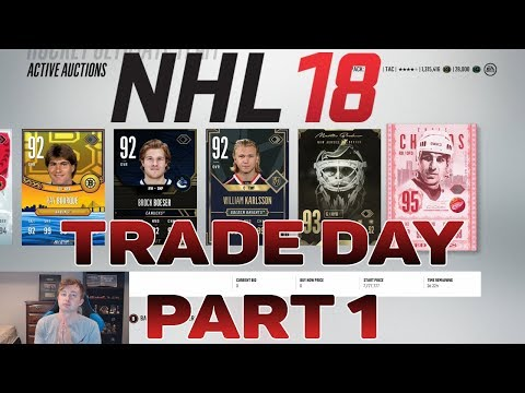 NHL 18 HUT - RUBY CARDS ONLY TRADE DAY