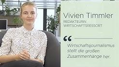 Wirtschaftsredakteurin Vivien Timmler | Journalismus in 2 Minuten - SZ einfach erklärt