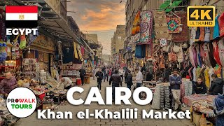 Cairo's Khan el-Khalili Walking Tour (4K/60fps)