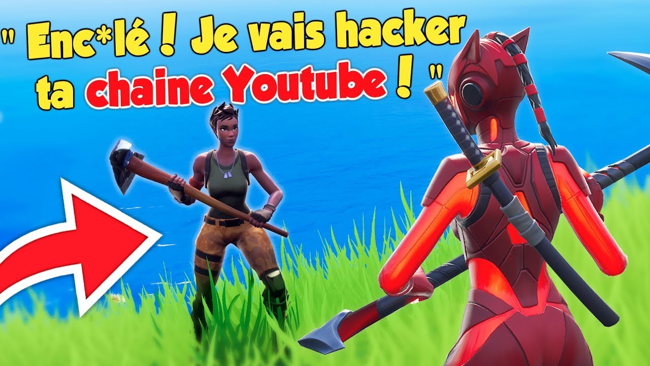 1vs1 Contre Un Rageux Qui Veut Hacker Ma Chaine Youtube Troll