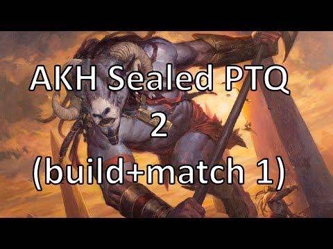 Amonkhet PTQ sealed - deckbuilding & match 1