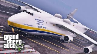 GTA V E37 - World's Largest Plane in GTA V | Antonov AN-225 Mriya Mod Showcase
