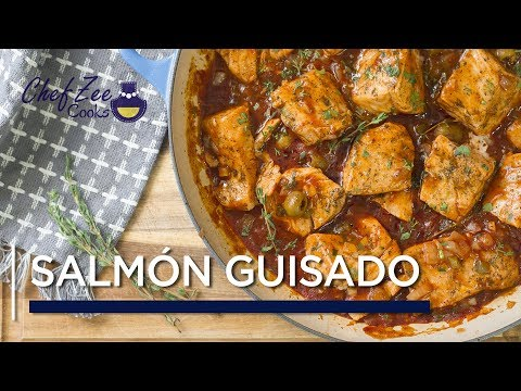 Salmon Guisado | Stew Salmon | Fish & Seafood Recipes | Chef Zee Cooks