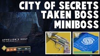 Destiny 2 Forsaken - MALFEASANCE City of Secrets - Easy Taken Boss / Miniboss Kills!