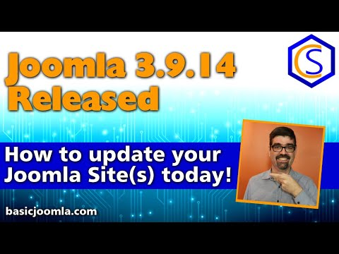 🗞 Live Bulletin -  🔧Joomla! 3.9.14 Security And Bug Release - 2 How To Update Joomla Tutorials