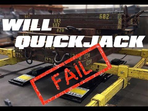 Epic Quickjack Car Lift Fail Video Attempt Youtube