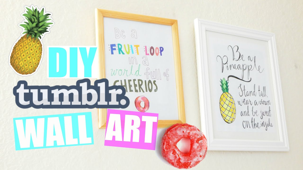 DIY Quote Wall Art Room Decor! |PastelPandaz - YouTube