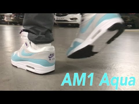 The Nike Air Max 1 Aqua is back ! On feet NOIRFONCE Sneakers