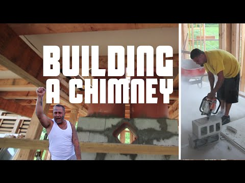 Building a Chimney and staying in a HAUNTED Mansion!
