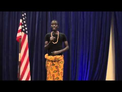 YES Program Student from Ghana Sings National Anthem