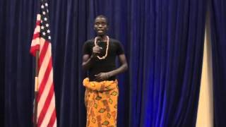 YES Program Student from Ghana Sings National Anthem
