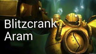 League of Legends - Blitzcrank Aram - Full Game w/ Commentary