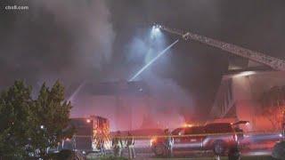Fire crews battling condo complex fire in Solana Beach