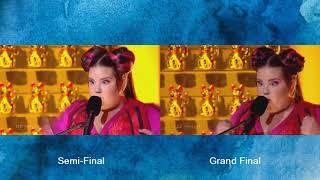 WINNER Eurovision ISRAEL 2018 Netta - Toy - Semi Final vs Final - EuroFanBcn