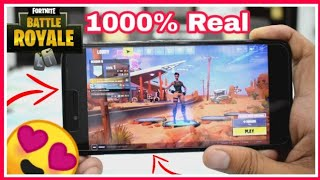 😍😍WOW FORTNITE REAL LAUNCHED FOR ANDROID || 1000% Real with Proof || Must watch 2018 (Hindi)
