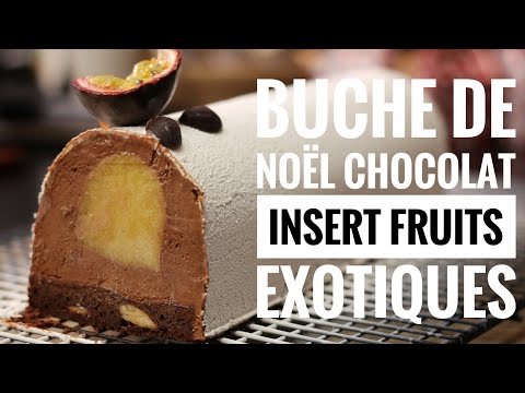 Buche chocolat insert fruit exotique