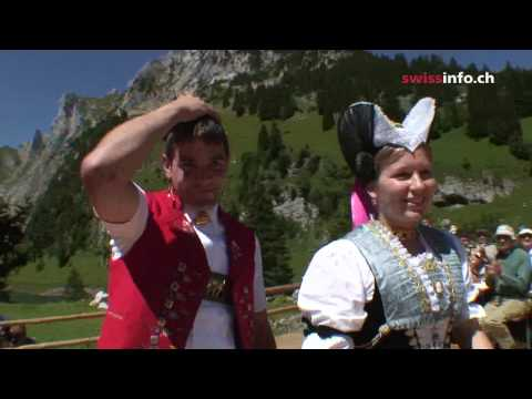 The dance of love -  A traditional performance in Appenzell,