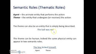 Thematic Roles