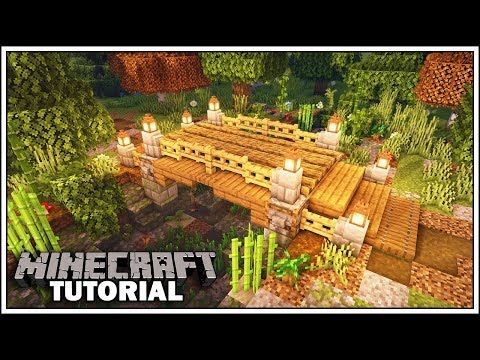 How To Build A Small Bridge In Minecraft 1 14 Youtube