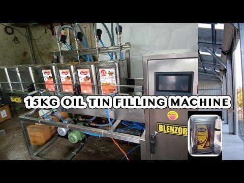 15KG OIL TIN FILLING MACHINE FOR MUSTURD OIL REFINED OIL