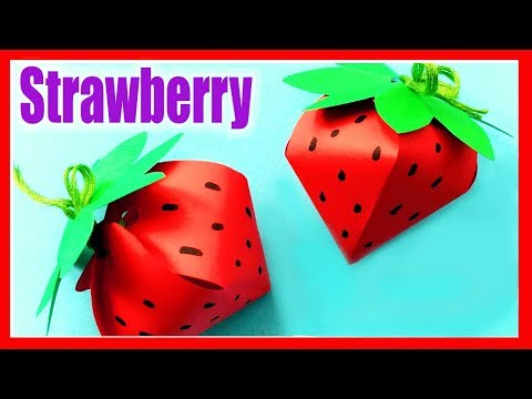 STRAWBERRY paper craft-How to Make DIY paper STRAWBERRY-Origami Idea