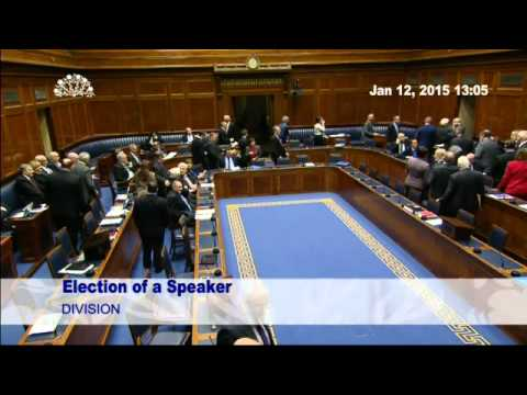 Mitchel McLaughlin MLA Elected Speaker of the Northern Irela