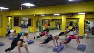Функциональная степ тренировка #1. Functional step. Тренировка кардио и силовой выносливости