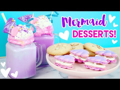 Download Youtube: How to Make Mermaid Desserts (Freakshakes, Macarons, and Cookies)! 💕🐠