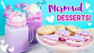 How to Make Mermaid Desserts (Freakshakes, Macarons, and Cookies)! 💕🐠 thumbnail