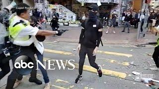 Police open fire on Hong Kong demonstrators l ABC News