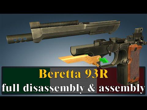 Beretta 93R: full disassembly & assembly