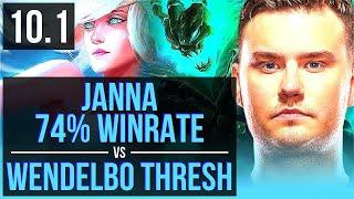 JANNA & Miss Fortune vs Wendelbo THRESH & Jhin (SUPPORT)   74% winrate   EUW Diamond   v10.1