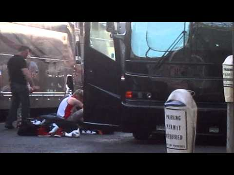 Niall outside his tour bus for the LONGEST...
