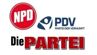 NPD, Die Partei & PdV - Kleine Parteien in (fast) fünf Minuten