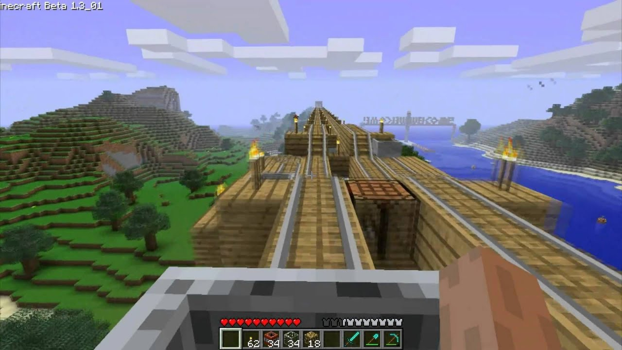 minecraft how to build a railway station